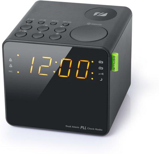 Muse M-187 CR zwart Wekkerradio met helder LED scherm