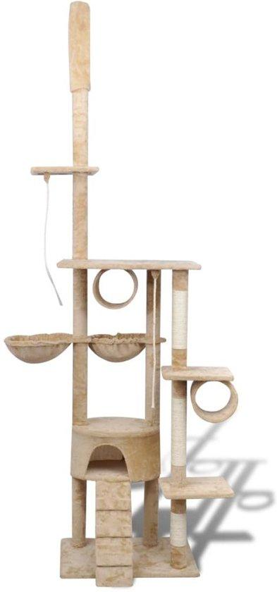 Krabpaal Tommie - 220/240 cm 1 huisje - Geel