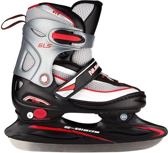 c2e8627519d Nijdam 2202 Junior IJshockeyschaats - Verstelbaar - Maat 34-37 -  Semi-Softboot -