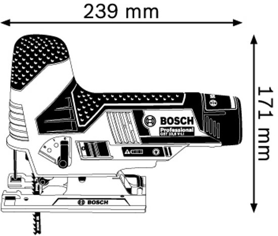 Bosch Professional GST 12 V-LI Accu decoupeerzaagmachine - 12 V - Met 2 x 2,5 Ah accu's, snellader en L-BOXX