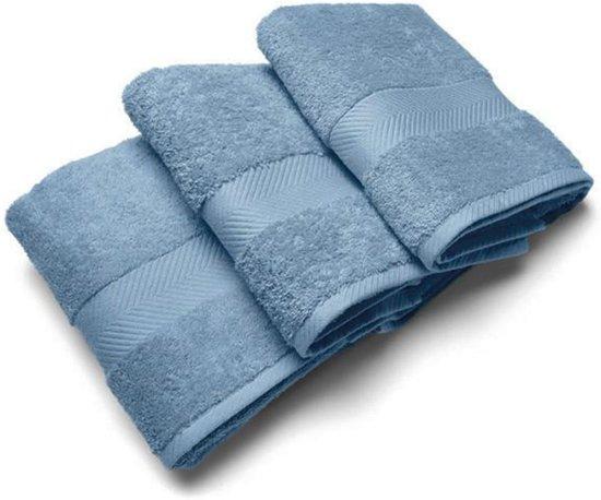 Casilin Royal Touch - Handdoek - Jeans - 50 x 100 cm - Set van 3