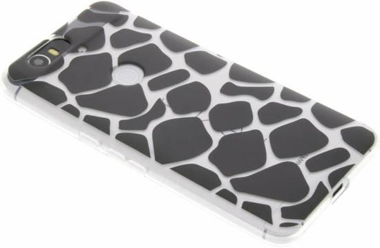 Imprimé Animal Noir Étui Design Tpu Girafe Pour Huawei Nexus 6p u7xJDN