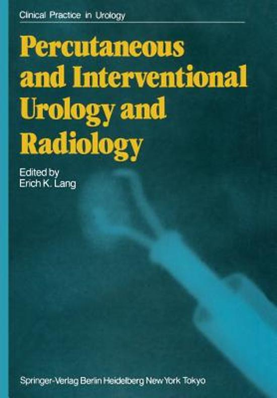 Percutaneous and Interventional Urology and Radiology
