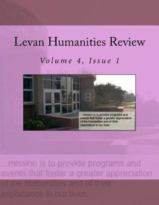 Levan Humanities Review, Volume 4, Issue 1