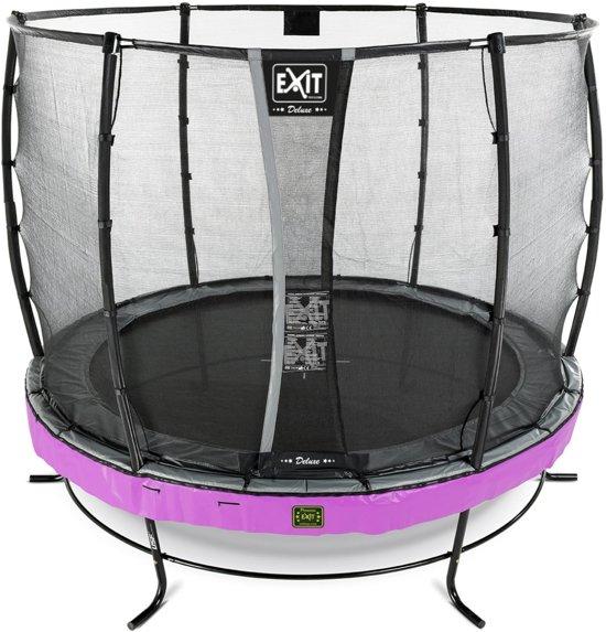 EXIT Elegant Premium trampoline ø305cm met veiligheidsnet Deluxe - paars