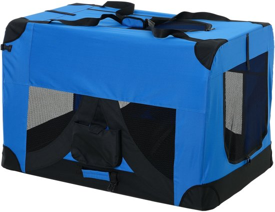Dieren transportbox - reismand - koningsblauw - XXXL