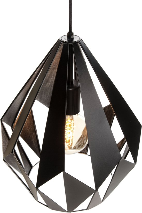 Vaak bol.com | EGLO Vintage Carlton 1 - Hanglamp - 1 Lichts - Ø310mm &WF55
