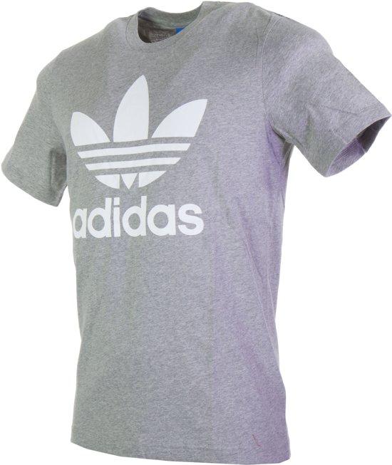 adidas Originals Trefoil Sportshirt - Maat XL - Mannen - grijs/wit