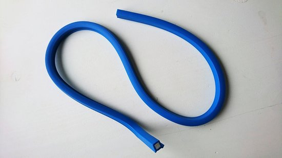 Flexibele liniaal, curve 80cm, zonder maatverdeling