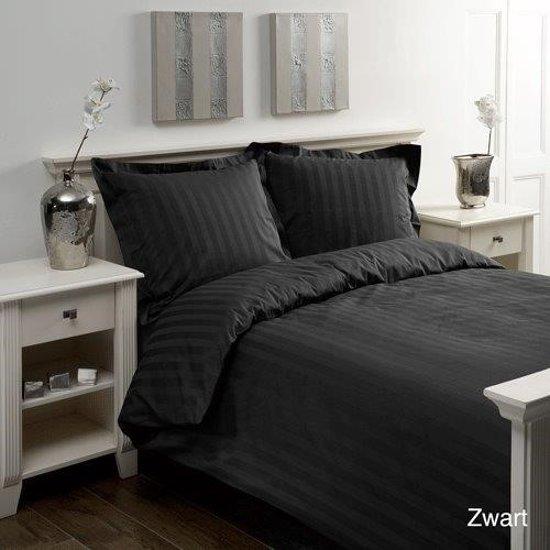 papillon dekbedovertrek lits jumeaux satijn 240x200 220cm zwart. Black Bedroom Furniture Sets. Home Design Ideas