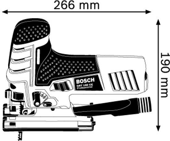 Bosch Professional GST 150 CE Decoupeerzaag - 780 Watt - Met opbergkoffer en 1 decoupeerzaagblad voor hout