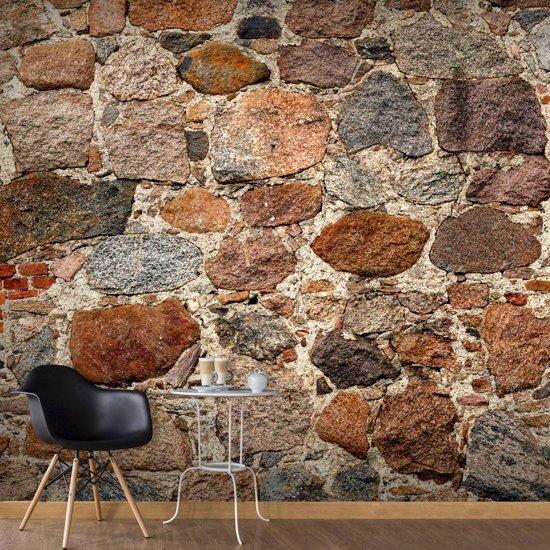 Fotobehang - Artistieke stenen muur