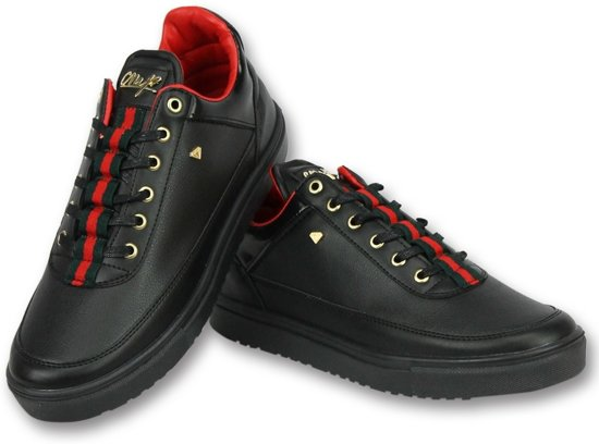 fa4af3ecfa5 Cash Money Schoenen Kopen Heren Sneakers - Mannen Line Black Green Red -  CMP11 - Zwart