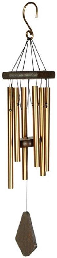Nature's Melody windgong aluminium - 60 cm lang - gestemde klankbuizen - bronskleurig