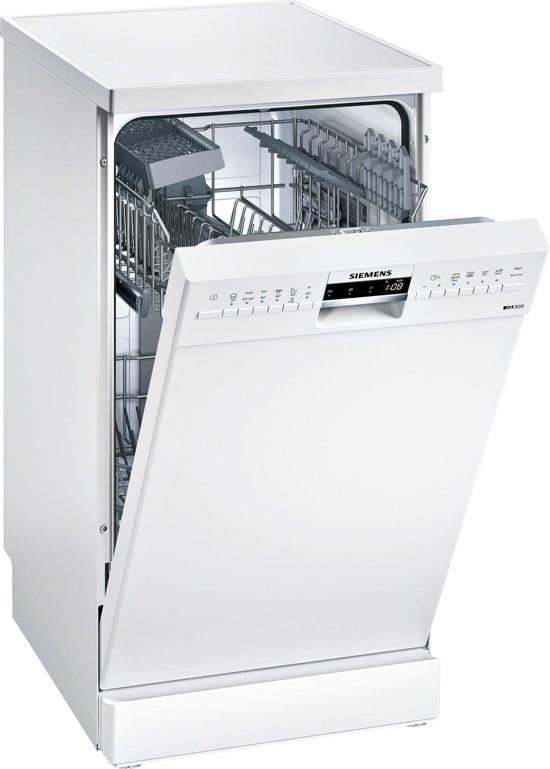 Siemens SR236W07IE iQ300 - Smalle vrijstaande vaatwasser - Wit