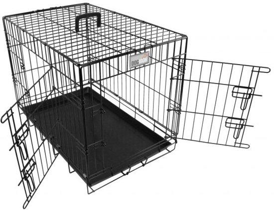 Doginox Bench 2-Deurs - Hondenbench - Zwart - 62x44.5x51.5 cm