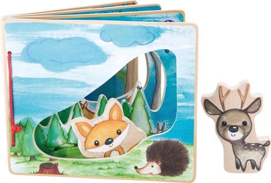 Afbeelding van Houten baby boekjes / Plaatjes boek - in het bos - interactief - FSC® - Baby speelgoed vanaf 1 jaar speelgoed