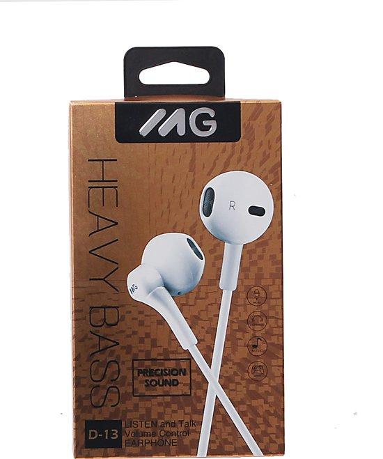 MG In-ear koptelefoon D13 - WIT, WHITE