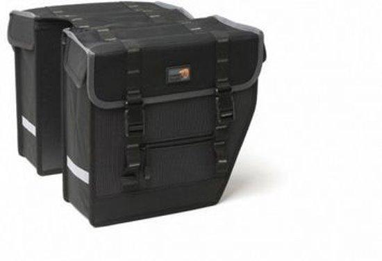 New Looxs Superior Midi Dubbele Fietstas - 27 l - Black/ grey