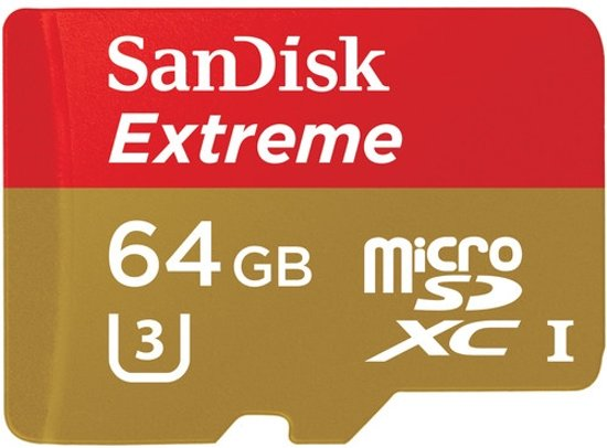 Sandisk Extreme Micro SD - 64 GB - Met Adapter