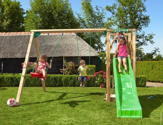 Speeltoestel Kleine Tuin : Jungle gym u2013 tower 2 swing speeltoestel schommel met glijbaan