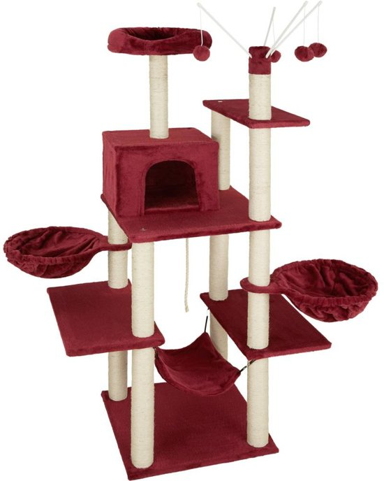 TecTake - Krabpaal Lilou rood 165 cm - 402935