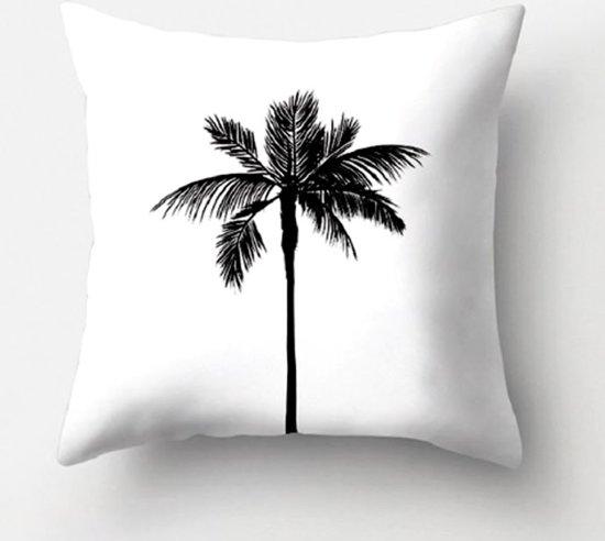 Kussenhoes Palm | Kussenhoes Zwart Wit met rits