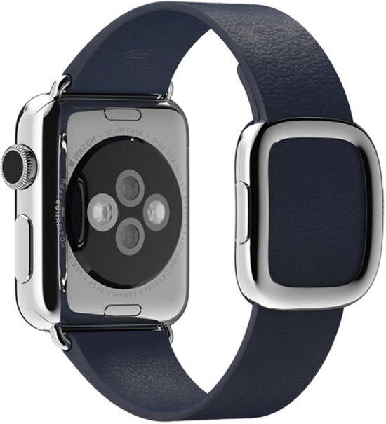 Bandje met moderne gesp voor de Apple Watch - 38 mm - Medium - Blauw