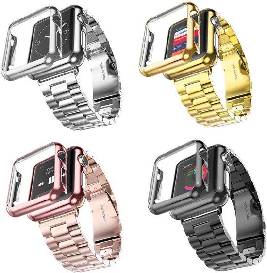 Stainless Steel Horloge Band 42MM Voor de Apple Watch - Roestvrij Staal Armband Watchband Voor de iWatch - Zilver Kleurig