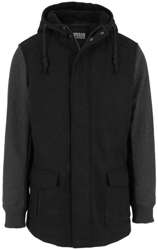 Urban Jacket Wool Black Classics Hooded Contrast g8qCgwr