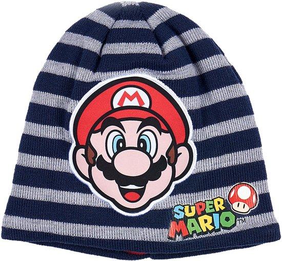 78f13a6bb9e192 Super Mario Bros Gebreide-muts-marineblauw