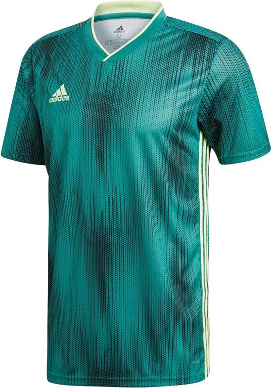 adidas Sportshirt - Maat 116  - Unisex - groen/geel