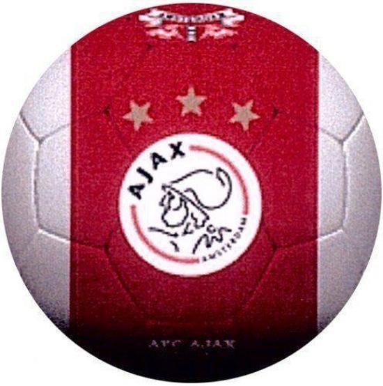Ajax bal 1900 leer groot wit met rode baan - Sterke witte werpen en de bal ...