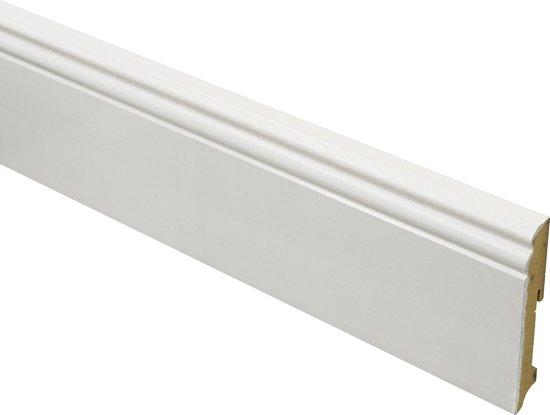 Plint Wit met kraal 240 cm - 111 mm hoog - set van 5 stuks