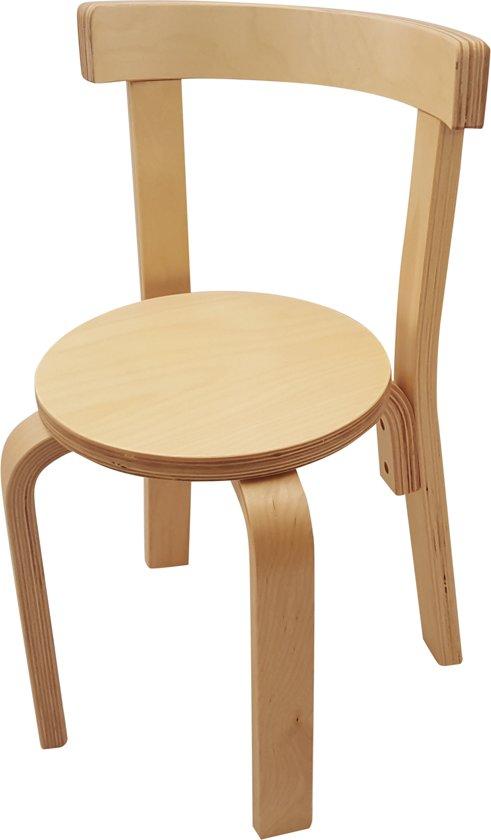 Playwood houten stoel voor kinderen ronde zitting blank gelakt kinderstoeltje - Smeedijzeren stoel en houten ...