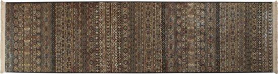 Dutchbone Shisha - Vloerkleed - Zwart/Bruin - 67x245 cm