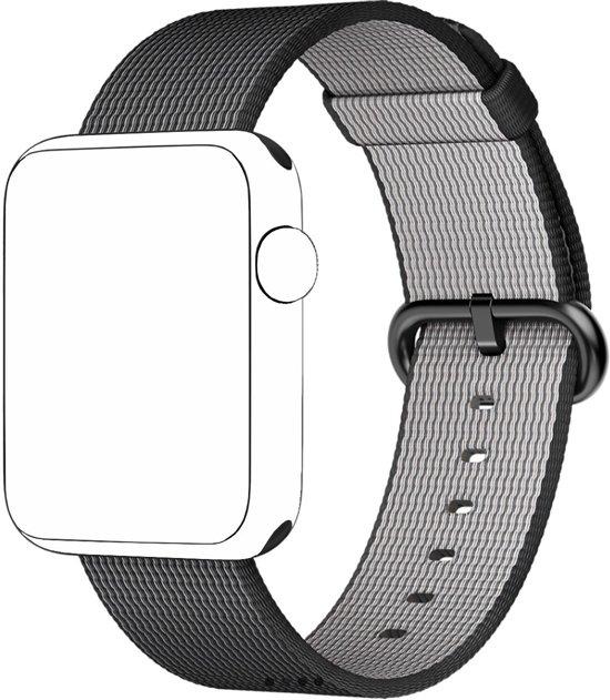 Nylon Horloge Band Voor Apple Watch Series 1/2 - Armband / Polsband / Strap Bandje / Sportband Voor De iWatch - 42MM Zwart