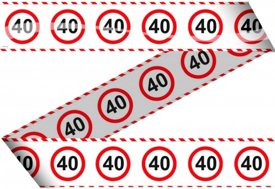 40 jaar bord bol.| Markeerlint 40 jaar met stop bord, Folat | Speelgoed 40 jaar bord