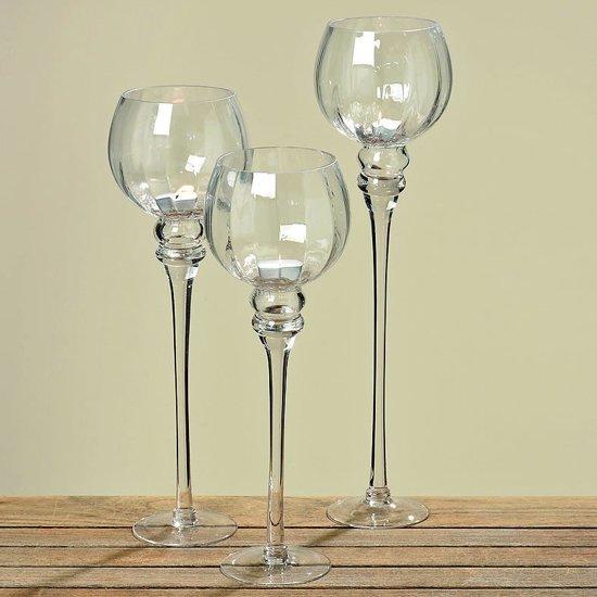 Windlicht - 3 set - 47 cm - Glas