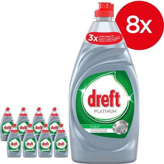 Dreft Platinum  Original - Voordeelverpakking 8x820ml - Afwasmiddel