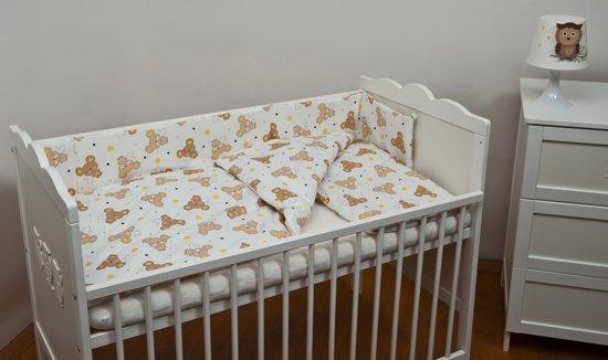 Beddengoed set - 6 delig - voor 140x70cm ledikant - muizen met gele oortjes