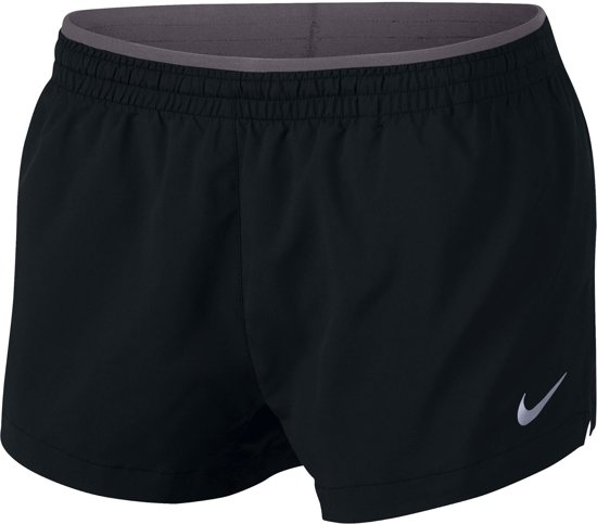 Nike W Elevate Trck Short 3In Sportbroek Dames - Black/Gunsmoke - Maat XL