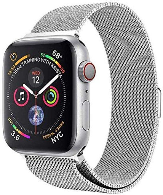 Milanese Loop Armband Voor Apple Watch Series 1/2/3/4 38/40 MM Iwatch Milanees Horloge Band - Zilver Kleurig