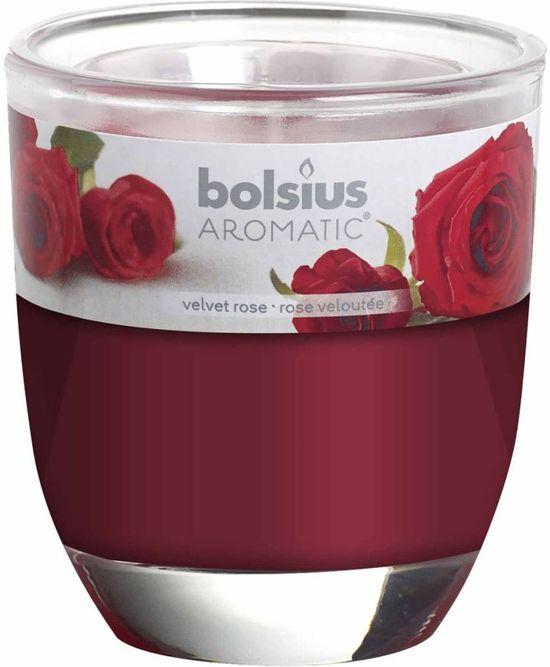 Bolsius Velvet roos - Geurkaars (1x)