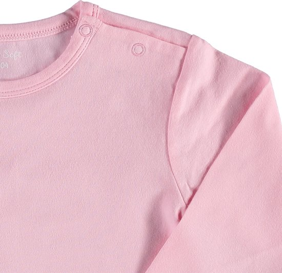 Zeeman - Meisjes lange mouw romper van biologisch katoen - maat 74/80 - roze - 3 stuks