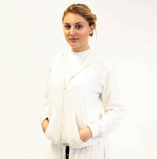 wit vest katoen