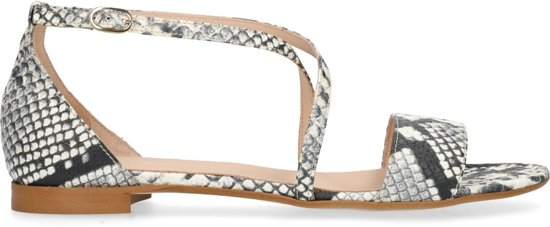 Manfield - Dames - Sandalen met snakeskin - Maat 40
