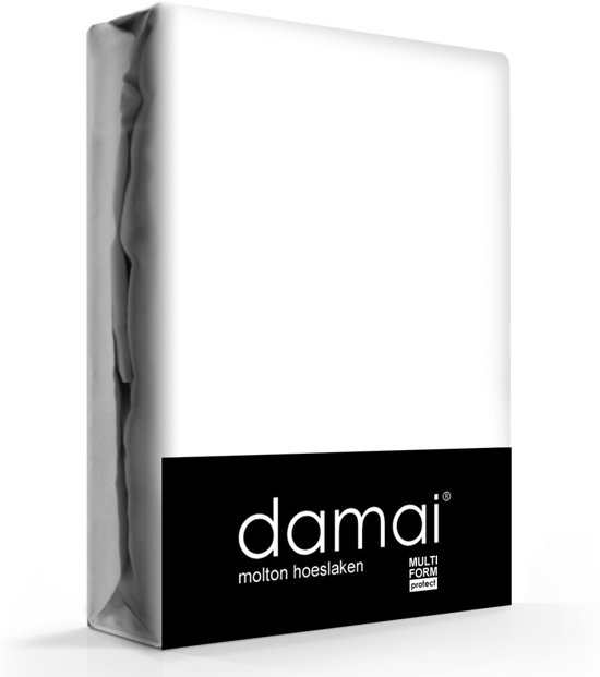 Damai hoeslaken - molton - 140 - 160 x 200 - Wit