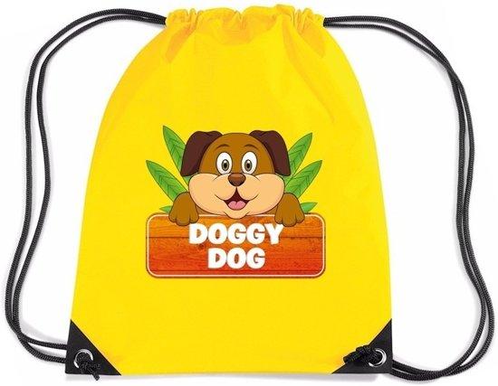 41def438cd8 Doggy Dog de hond rijgkoord rugtas / gymtas - geel - 11 liter - voor  kinderen
