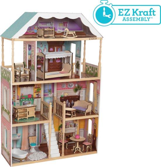 KidKraft Charlotte poppenhuis met gemakkelijke EZ Kraft Assembly